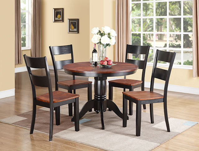 Pedestal with 4 chairs