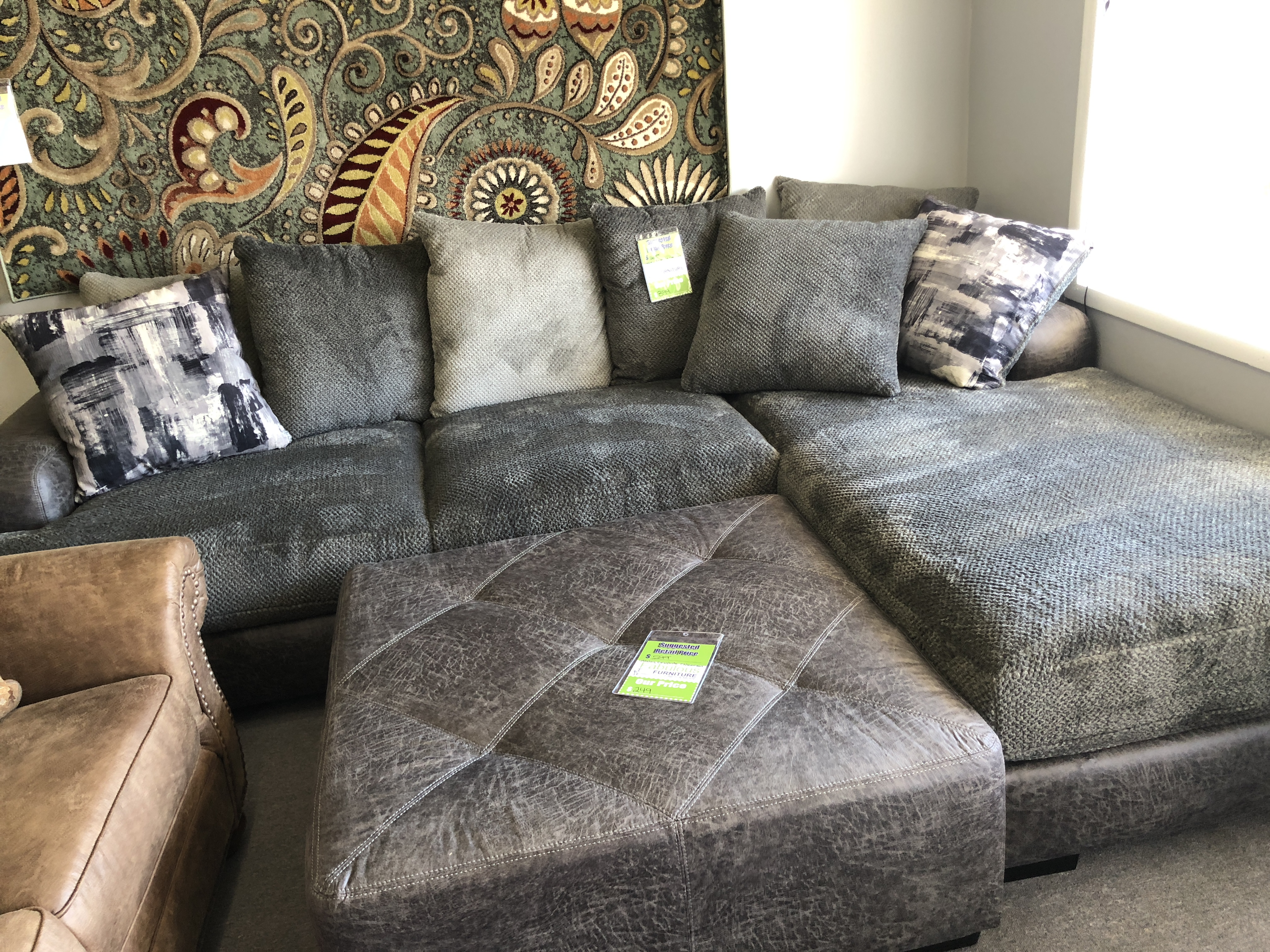 Wesley Graphite Sectional