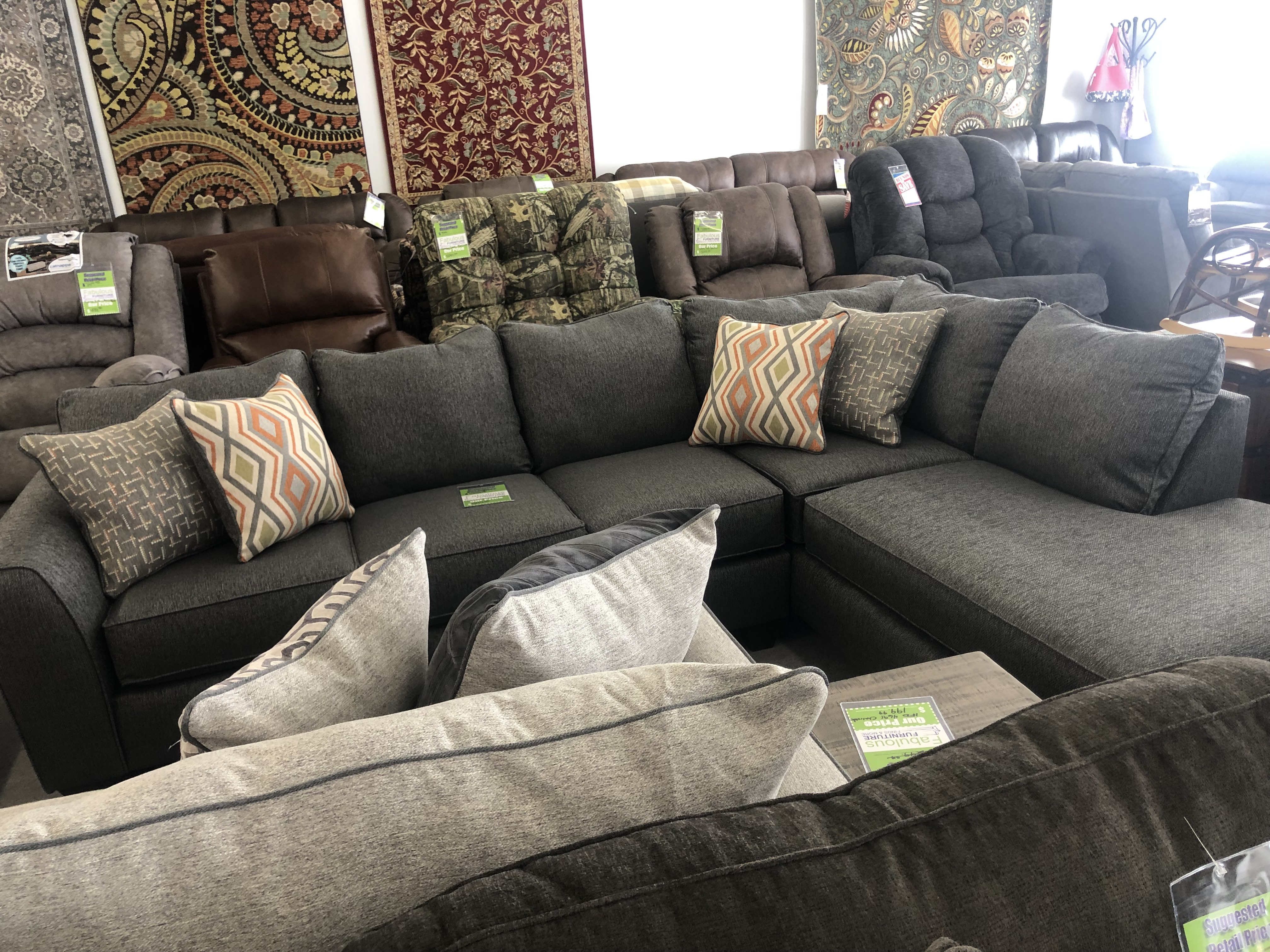 Crypton Graphite Sectional