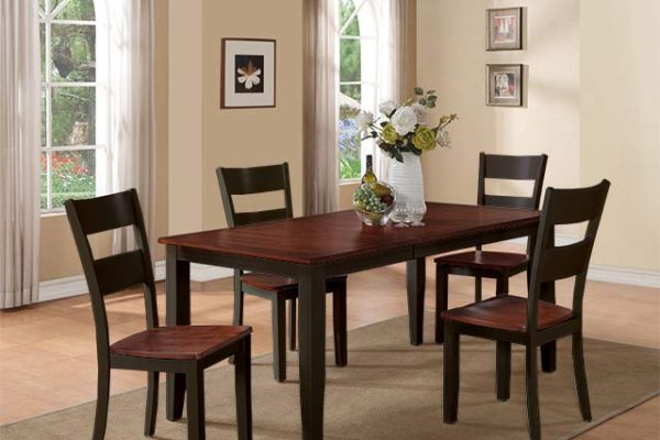 Black and Cherry Dining Set