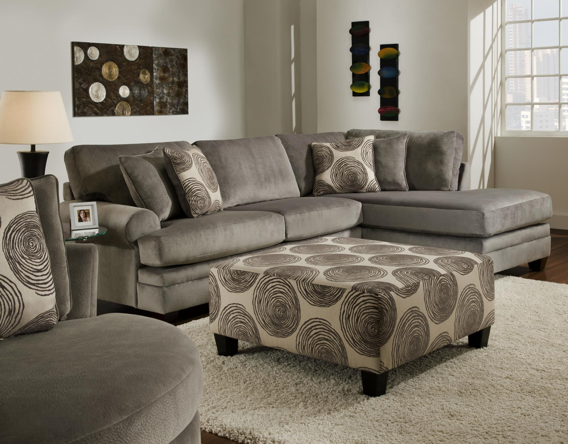 Groovy Smoke Sectional