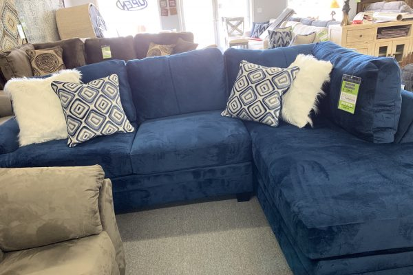 Groovy Navy Sectional